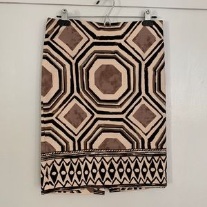 Geo patterned pencil skirt from Loft